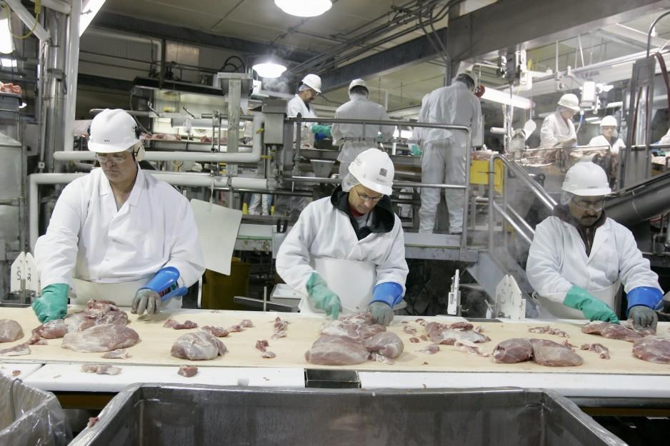 The Hormel pork processing plant in Fremont, Neb., Tuesday, July 8, 2008. (AP Photo/Nati Harnik)