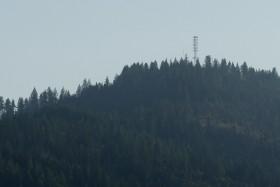 A mountain-top wireless Internet transmitter tower is shown near Plummer, Idaho. (AP Photo/Ted S. Warren)